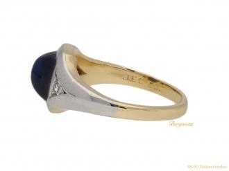 front-J-E-Caldwell-sapphire-diamond-ring-berganza-hatton-garden