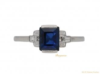 front-Art-Deco-sapphire-diamond-ring-berganza-hatton-garden