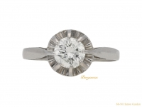 front-antique-Diamond-solitaire-ring-berganza-hatton-garden