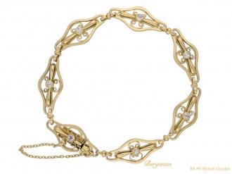 front-Art-Nouveau-diamond-bracelet-berganza-hatton-garden