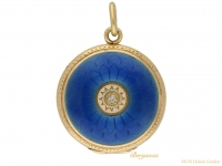 front-Antique-diamond-enamel-locket-berganza-hatton-garden