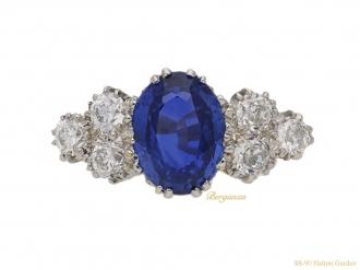 front-antique-sapphire-diamond-ring-hatton-garden-berganza