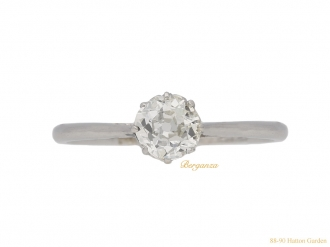 front-antique-diamond-engagement-ring-hatton-garden-