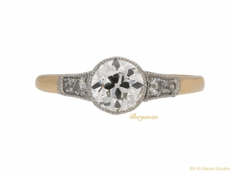 front-antique-diamond-engagement-ring-berganza-hatton-garden