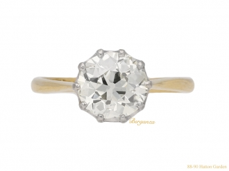 front-antique-Diamond-engagement-ring-berganza-hatton-garden