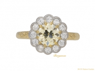 front-antique-yellow-diamond-ring-berganza-hatton-garden