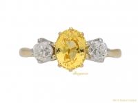 front-vintage-Yellow-sapphire-diamond-ring-berganza-hatton-garden