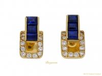 front-Sapphire-diamond-earrings-Jean-Vendome-berganza-hatton-garden