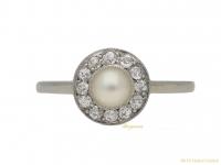 front-Natural-pearl-diamond-ring-berganza-hatton-garden