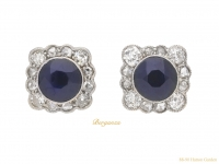 front-Sapphire-diamond-cluster-earrings-berganza-hatton-garden