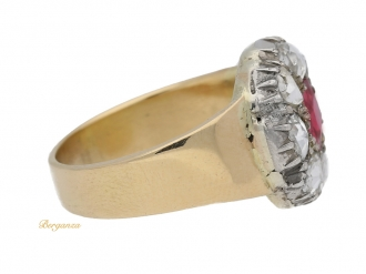 front-view-antique-ruby-diamond-cluster-ring-hatton-garden-berganza