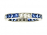 Sapphire and diamond full eternity ring.