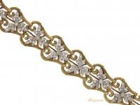 close up view Art Nouveau diamond bracelet, circa 1910.