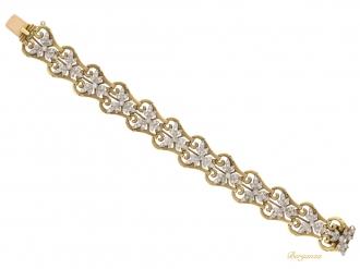 front-view-Art-Nouveau-diamond-bracelet,-circa-1910.-berganza-hatton-garden