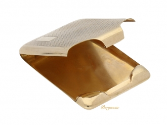 front-view-9ct yellow gold match book holder,