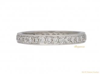 front-view-vintage-eternity-diamond-ring-berganza-hatton-garden