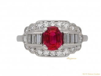 front-view-vintage-Whitehouse-Bros-ruby-diamond-ring-berganza-hatton-garden
