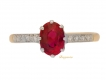 alt='front view Natural Pigeon Blood Burmese ruby ring, circa 1905.'