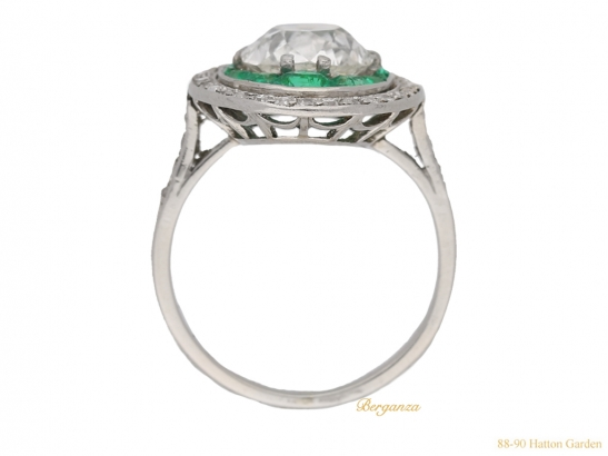 back-view-antique-diamond-emerald-ring-berganza-hatton-garden