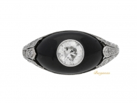 front view Diamond and onyx ring, circa 1935.