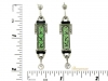 Art Deco diamond, onyx and jade earrings, circa 1925.