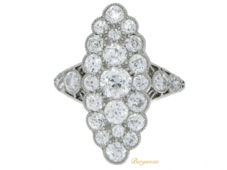 front-view-antique-Marquise-diamond-ring-berganza-hatton-garden