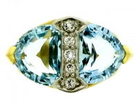 Aquamarine and Diamond Ring by Tiffany & Co, circa 1950.
