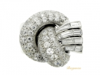front view Diamond Cocktail Ring in Platinum, Circa 1935.