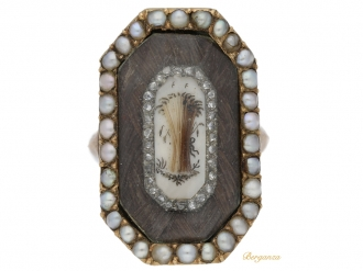 front-view-antique-Diamond-Pearl Mourning-diamond-ring-hatton-garden-berganza