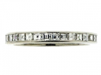 Square diamond eternity ring in platinum by Van Cleef & Arpels New York, No 37206.