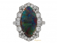 front-view-Art-Deco-black-opal-diamond-ring-berganza-hatton-garden