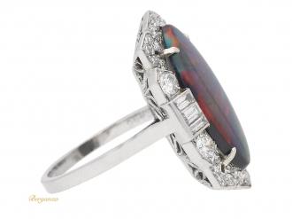 front-view-Art-Deco-black-opal-diamond-ring-berganza-hatton-garden
