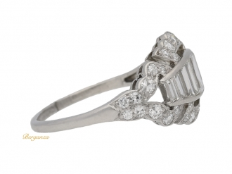 front-view-Art-Deco-baguette-and-round-diamond-ring,-circa-1930.-berganza-hatton-garden