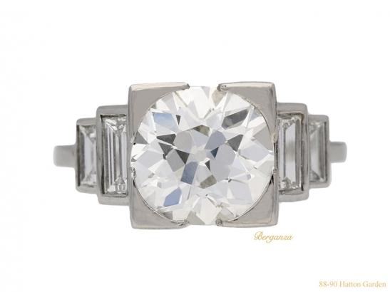 front-view-art-deco-diamond-engagement-ring-berganza-hatton-garden