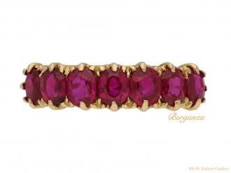 antique carved ruby ring berganza hatton garden