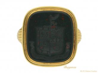 front antique bloodstone signet ring berganza hatton garden
