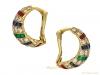 side cartier ruby diamond sapphire emerald earrings berganza