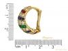 size cartier ruby diamond sapphire emerald earrings berganza