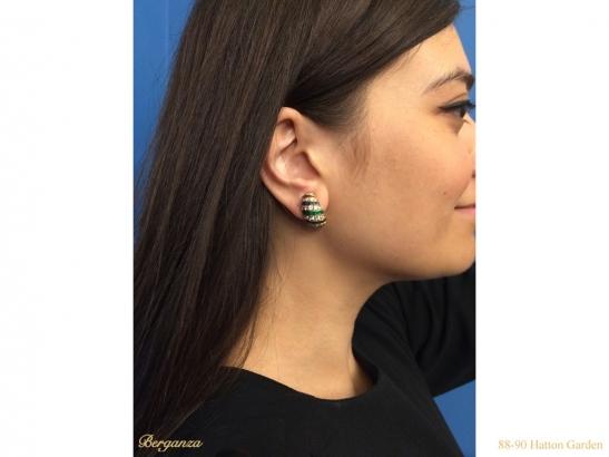 ear cartier ruby diamond sapphire emerald earrings berganza