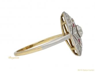 Antique diamond and calibré cut ruby ring berganza hatton garden