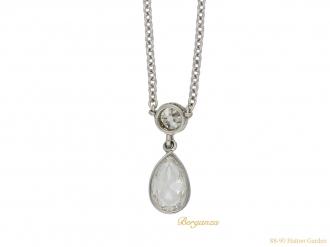 Drop shape diamond pendant hatton garden berganza