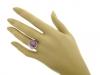 hand view J. Milhening Inc. star sapphire and diamond ring, Chicago, American, circa 1935.