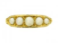 Antique pearl ring, circa 1890.