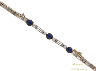 front antique sapphire diamond bracelet hatton garden berganza