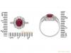 size view Art Deco ruby diamond ring berganza hatton garden