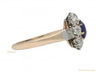 Antique sapphire diamond cluster ringberganza hatton garden