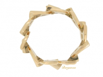 front view Boucheron Paris vintage bracelet in 18ct rose gold