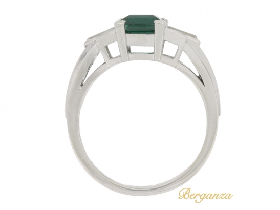 back view Gubelin Colombian emerald and diamond ring, circa 1943.