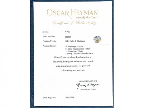 cert view Oscar Heyman Brothers pansy ring