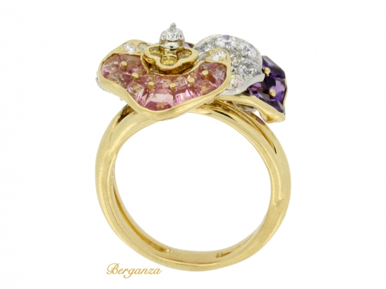 back view Oscar Heyman Brothers pansy ring